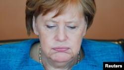 La chancelière allemande Angela Merkel lors d'une réunion de cabinet à Berlin, le 12 avril 2017.