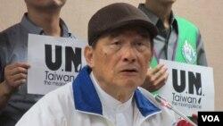 台灣聯合國協進會理事長蔡明憲。
