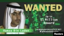 Một bức ảnh được tài khoản Twitter của Bộ Ngoại giao Mỹ lan truyền loan báo giải thưởng 1 triệu đôla cho thông tin dẫn tới thủ lĩnh al Qaeda Hamza bin Laden, con trai của Osama bin Laden.