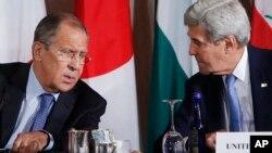 Сергей Лавров и Джон Керри (архивное фото)