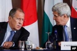 John Kerry et Sergueï Lavrov à New York le 22 septembre 2016.