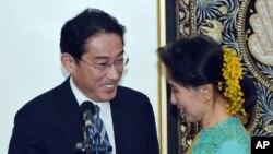 岸田文雄和昂山素姬會晤