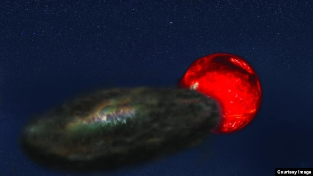 This is an artists conception of binary star system TYC-2505-672-1. (Jeremy Teaford, Vanderbilt University)