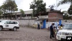 8일 콩고민주공화국 고마 시 외곽에서 유엔 평화유지군을 겨냥한 테러가 발생했다. 부상자가 치료받고 있는 유엔 병원 앞.