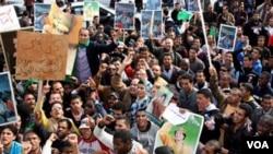 Opositores a líder Moammar Gadhafi convocaron a protestas a nivel nacional inspiradas en los levantamientos en otros estados árabes.
