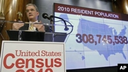 Census Director Robert Groves announces results for the 2010 U.S. Census at the National Press Club, Dec. 21, 2010