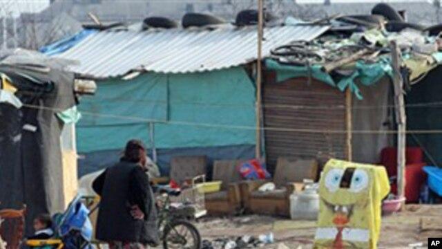 A Roma settlement in Belgrade, April 7, 2011