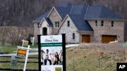 美国宾夕法尼亚州等待出售的新房(2017年2月27日)