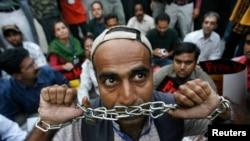 Акция протеста пакистанских журналистов
