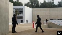 Đơn vị chống khủng bố đặc biệt của Marốc tuần tra tại trụ sở mới của Cục Điều tra Tư pháp Trung ương, ngày 23/3/2015.
