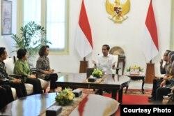 Presiden Joko Widodo bertemu dengan Pansel calon pimpinan KPK. (Foto: Humas Setkab)