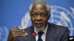 Utusan khusus PBB untuk perdamaian Suriah, Kofi Annan (foto: dok).