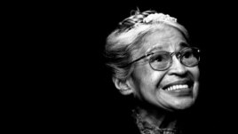 In this November 28, 1999 file photo, Rosa Parks smiles during a ceremony where she received the Congressional Medal of Freedom in Detroit.