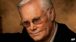 FILE - In this Jan. 10, 2007 file photo, George Jones is shown in Nashville, Tennessee.
