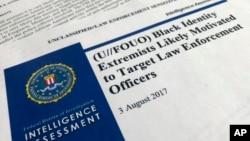 Naslovna strana izveštaja FBI.
