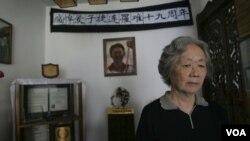 ກຸ່ມແມ່ຂອງພວກນັກເຄື່ອນໄຫວ ໄດ້ຮຽກຮ້ອງໃຫ້ຜູ້ນໍາຈີນ ເປີດການສົນທະນາກ່ຽວກັບການທັງມ້າງປາບປາມ ຢູ່ທີ່ຈະຕຸລັດ Tianamen ໃນປີ 1989.