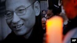 香港民眾2017年7月15日集會,對劉曉波去世表示哀悼。