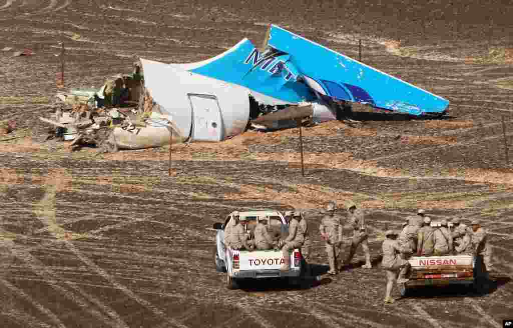 مصر میں گر کر تباہ ہونے والے روسی مسافر طیارے کے حادثے میں 224 افراد ہلاک ہو گئے تھے۔