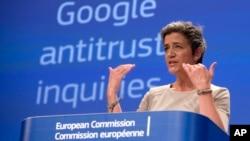 Pejabat Uni Eropa, Margrethe Vestager, menilai praktik bisnis Google melanggar UU Anti Monopoli di Eropa (foto: ilustrasi).