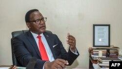 Lazarus Chakwera à Lilongwe au Malawi le 24 janvier 2019.