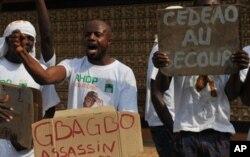 Des partisans de Ouattara