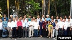 Các thành viên tham gia buổi gặp mặt cựu binh và thân nhân Hoàng Sa - Gạc Ma, ngày 9/1/2017. (Nguồn: Facebook Truong Huy San)