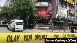 HDP Binasının olduğu alan polis kordonu altına alındı ve cadde kapatıldı.