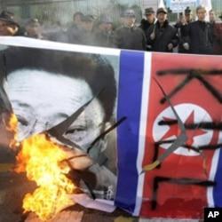 炮擊事件後南韓人民舉行反北韓示威