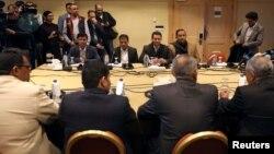 FILE - Yemen's warring parties attend a new round of talks to discuss a prisoners swap deal, in Amman, Jordan, Feb. 5, 2019.