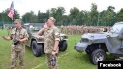 Украинские и американские военнослужащие на учениях Rapid Trident в Украине. Архивное фото, 2016 г.