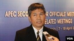 Deny Kurnia, Direktur Direktorat Kerjasama APEC dan Organisasi Lainnya di Kementerian Perdagangan. (VOA/Petrus Riski)