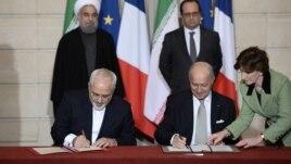 France Iran  Javad Zarif Hassan Rouhani Francois Hollande  Laurent Fabius