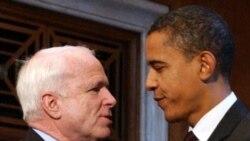 مک کین نامزد جمهوری خواهان در انتخابات ریاست جمهوری سال ۲۰۰۸ آمریکا، از آن زمان رابطه گرمی با باراک اوباما ندارد.