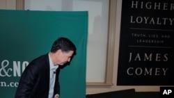 "Bivši direktor FBI James Comey dolazi na promociju svoje knjige ""A Higher Loyalty"" u New Yorku, 18. aprila 2018."
