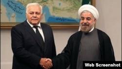 Azərbaycan Milli Məclisinin sədri Oqtay Əsədov İran prezidenti Həsən Ruhani ilə görüşüb