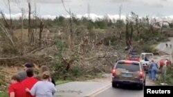 Šteta pričinjena u Boregardu, u Alabami
