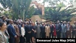 Les partenaires techniques et financiers du Cameroun lors des consultations participatives à Yaoundé, Cameroun, le 26 avril 2019. (VOA/Emmanuel Jules Ntap)