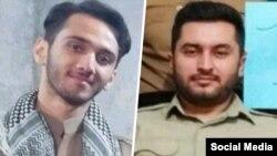 پوریا ناصری (راست) و هیمن محمدیان. عکسی از یادگار جعفری و یاسین کریمی موجود نیست