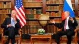 FILE - U.S. President Joe Biden, left, and Russia's President Vladimir Putin meet for the U.S.-Russia summit at Villa La Grange in Geneva, Switzerland, June 16, 2021.