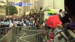 VOA60 Duniya: Masu Rajin Demokuradiyya a Hong Kong, Oktoba 3, 2014