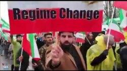 شعار معترضان علیه خامنه ای و دیکتاتوری در ورشو؛ تجمع مخالفان جمهوری اسلامی