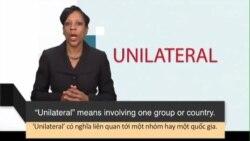 Học từ vựng qua bản tin ngắn: Unilateral (VOA News Words)