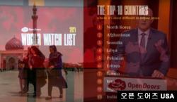 오픈 도어즈 USA의 데이비드 커리 회장이 13일 온라인을 통해 '2021 세계 기독교 감시 목록'을 발표하고 있다. 북한은 20년 연속 최악의 기독교 박해 국가로 지목됐다.