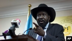 "Days after he said the West ""covets"" South Sudan's natural resources, President Salva Kiir is due to head to Washington for the first-ever U.S.-Africa Leaders summit."