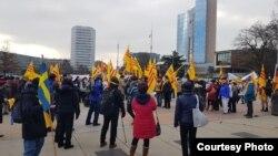 Cộng đồng Việt Nam biểu tình tại Geneva, Thụy Sĩ, ngày 22/1/2019. Photo Đặng Xuân Diệu.