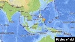 Area general del terremoto frente a la costa este de Filipinas.
