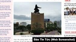 Tượng Đức Thánh Trần tại Sài Gòn.