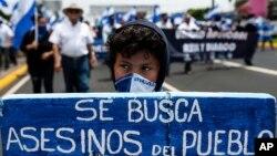 La comunidad internacional exige el fin de la represión y la violencia en Nicaragua, así como elecciones adelantadas algo que el presidente Daniel Ortega rechaza.