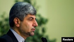 Iran's Foreign Ministry spokesman Ramin Mehmanparast speaks to the media in Tehran. (file photo)