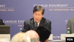 台湾政治大学国际关系研究中心中国政治研究所研究员兼代理主任丁树范(美国之音Grace Wang摄)